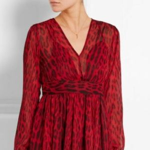 Michael Kors Red Leopard Mini Dress w/ Tags (Sale)